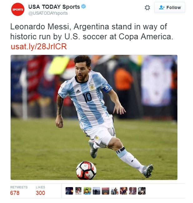 Copa America 2016 - SFs - USA vs Argentina - Page 2 ClbO9zfWEAAb9jb