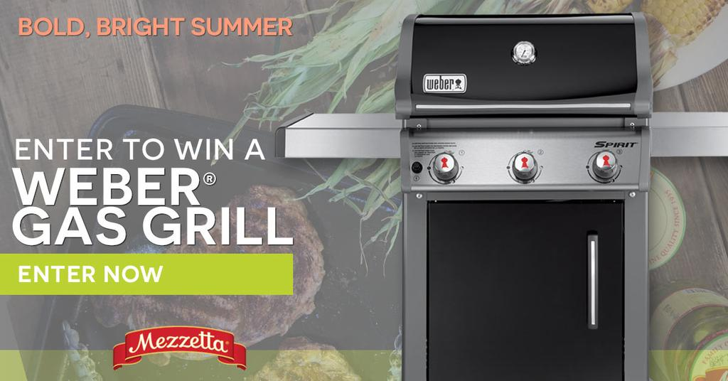 Enter to #win a Weber gas grill and #mezzetta pack! #Giveaway ends 7/15. #sweepstakes https://t.co/GRhlCGzbAl #ad https://t.co/NHdpcv2x6d