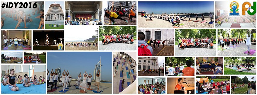 #yoga - a way of life! Snapshots of #YogaDay celebrations from Indian Missions & Posts across the globe #IDY2016 https://t.co/nZv7iMqyOf