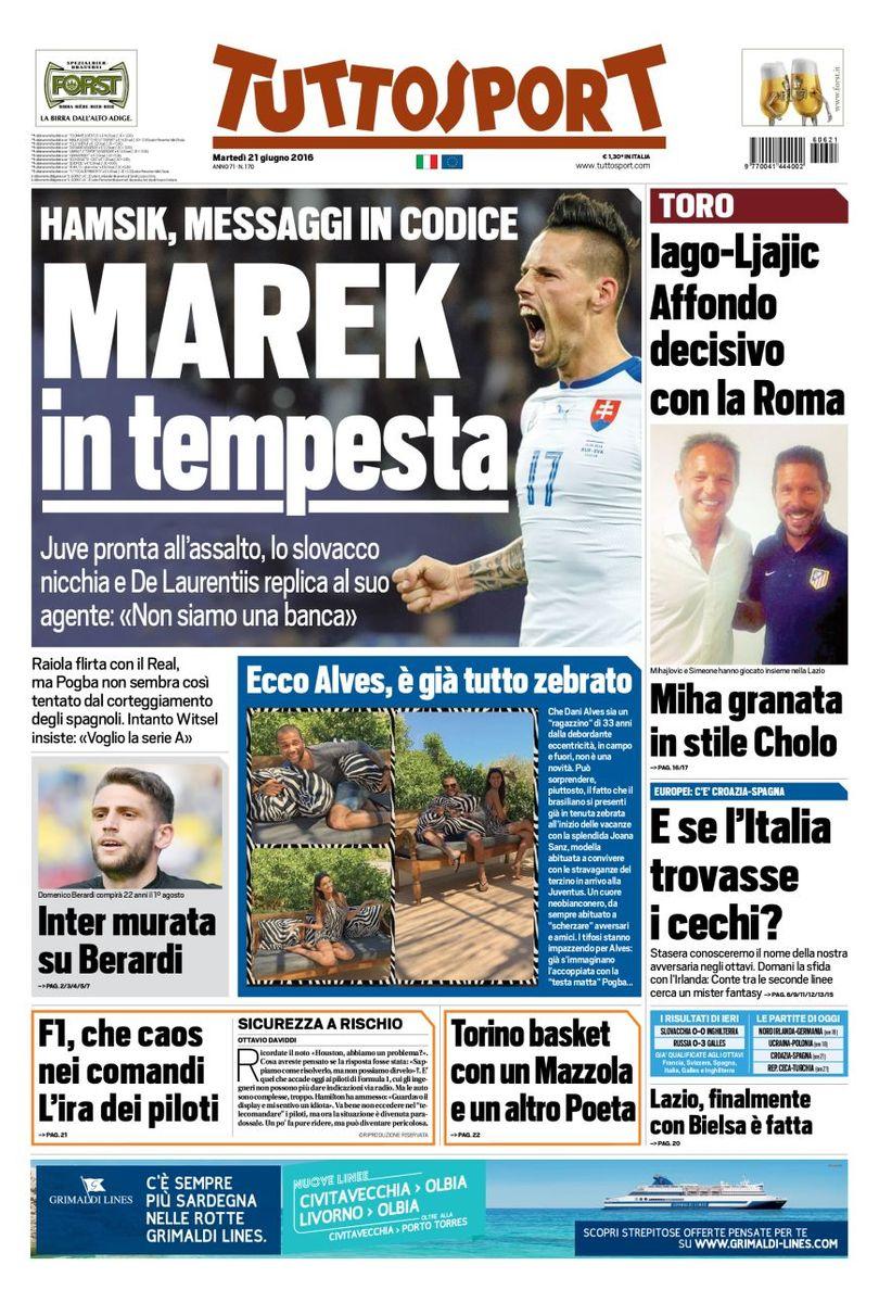 Footballitalia On Twitter Today S Headlines From La Gazzetta Dello Sport Il Corriere Dello Sport And Tuttosport Https T Co Txklqok9al