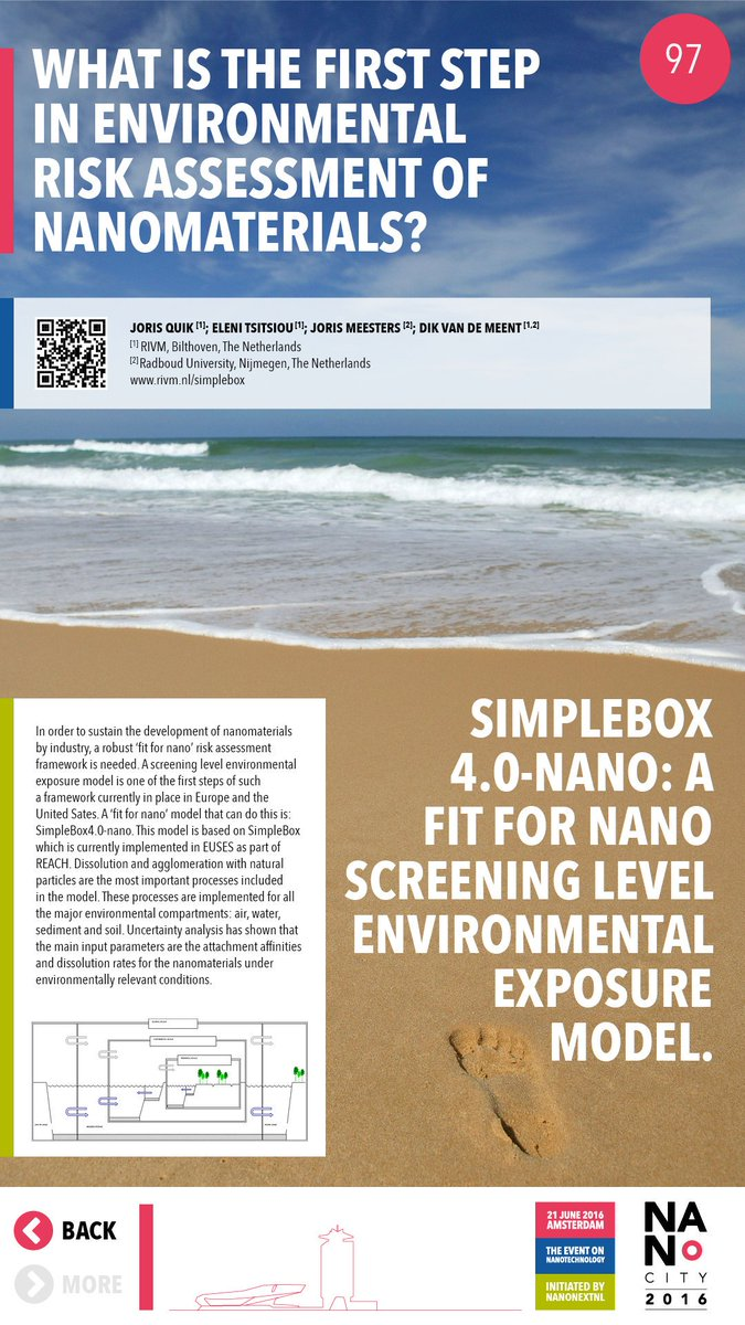 On my way to #nanocity2016 to give a talk about SimpleBox4nano, a model for estimating exposure concentrations @rivm https://t.co/NTACNp7x4f