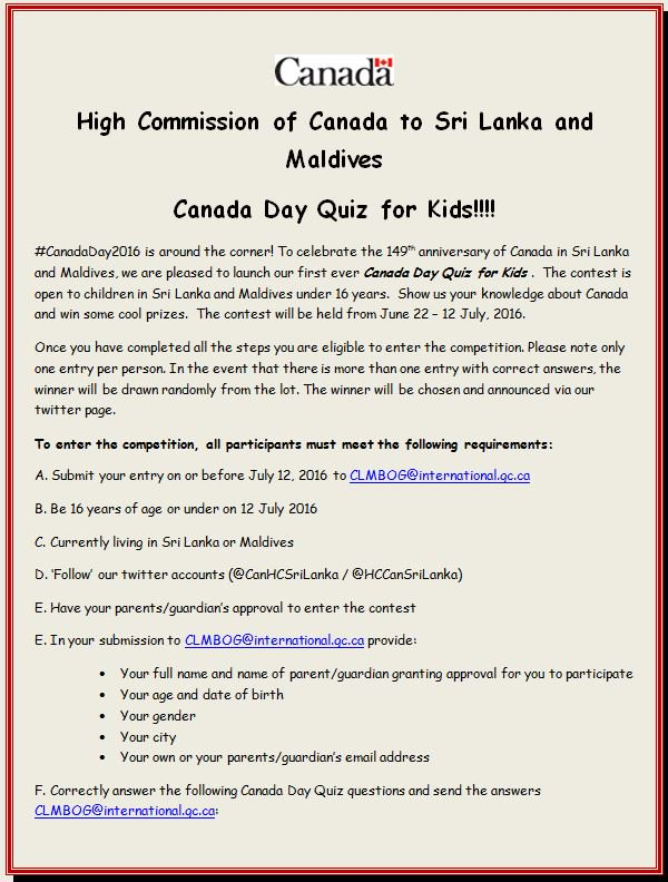 Canada in Sri Lanka on Twitter: