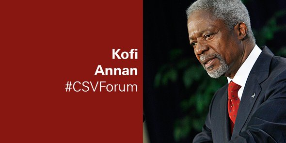 "Kofi Annan: ""Business cannot succeed in a society which fails."" https://t.co/1cx1UIBVEa #CSVForum https://t.co/TfFSAsBqG6"