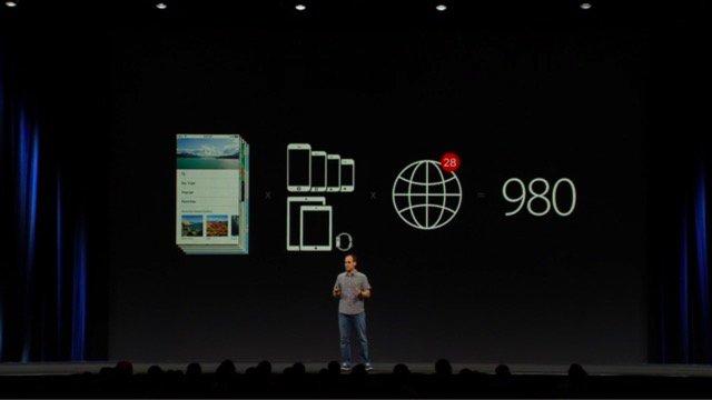 #WWDC デバイスと言語の組み合わせによっては 980 枚用意する必要があったスクリーンショットが、新しいiTunes Connectでは5.5inch用のものだけ準備しておけばOKになるとのこと。今年の夏から使えるらしい https://t.co/K7rwLbZrgf