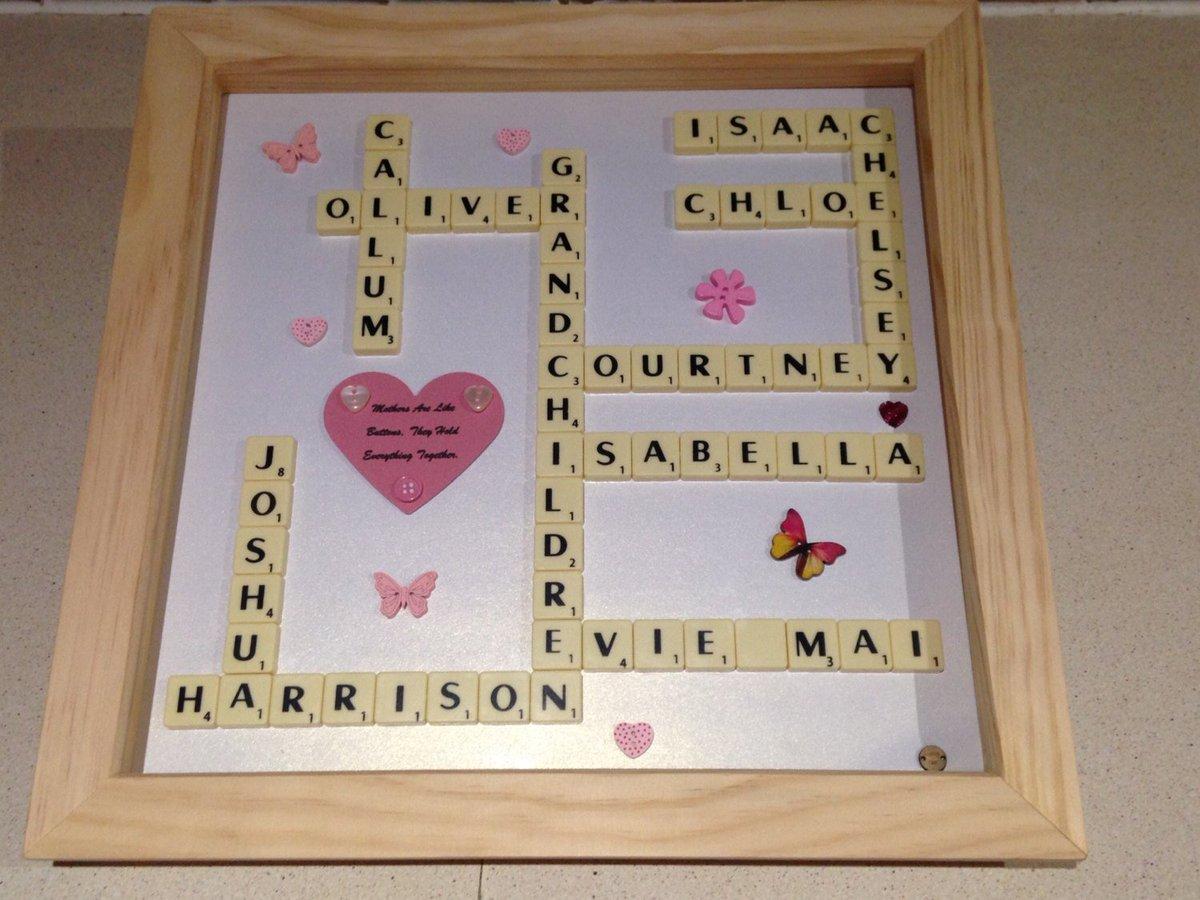 Scrabble Names Wall Art Von Bingham On Twitter Scrabble Art Family Names Frame Scrabble