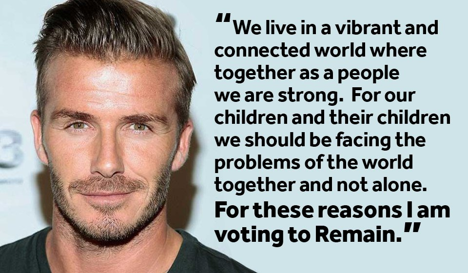 David Beckham is clear: we should be facing the problems of the world together and not alone https://www.facebook.com/StrongerInCampaign/photos/a.1016792188361105.1073741828.1014500498590274/1198481010192221/?type=3&theater…