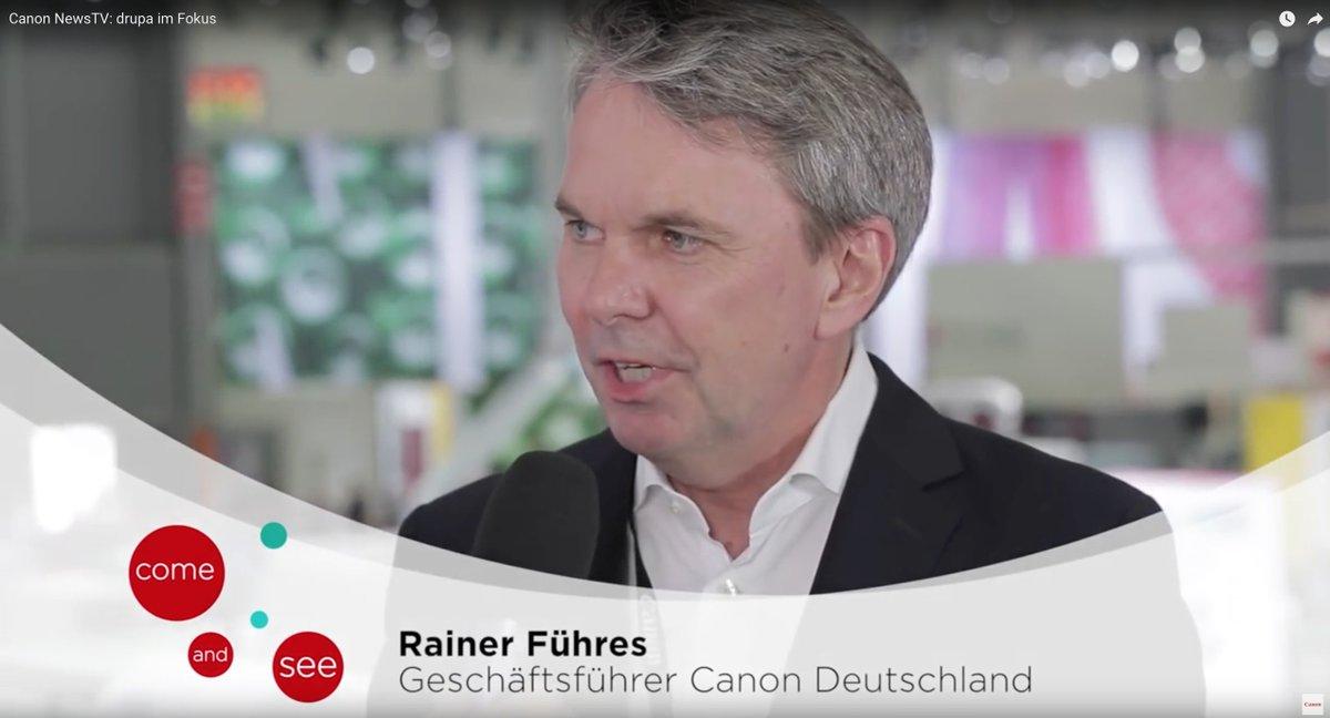 #Canon Deutschland-Chef Rainer Führes erläutert #unleashprint und den #drupa2016 Erfolg https://t.co/ccsOUCKjoG https://t.co/VJ7vNVjqzV