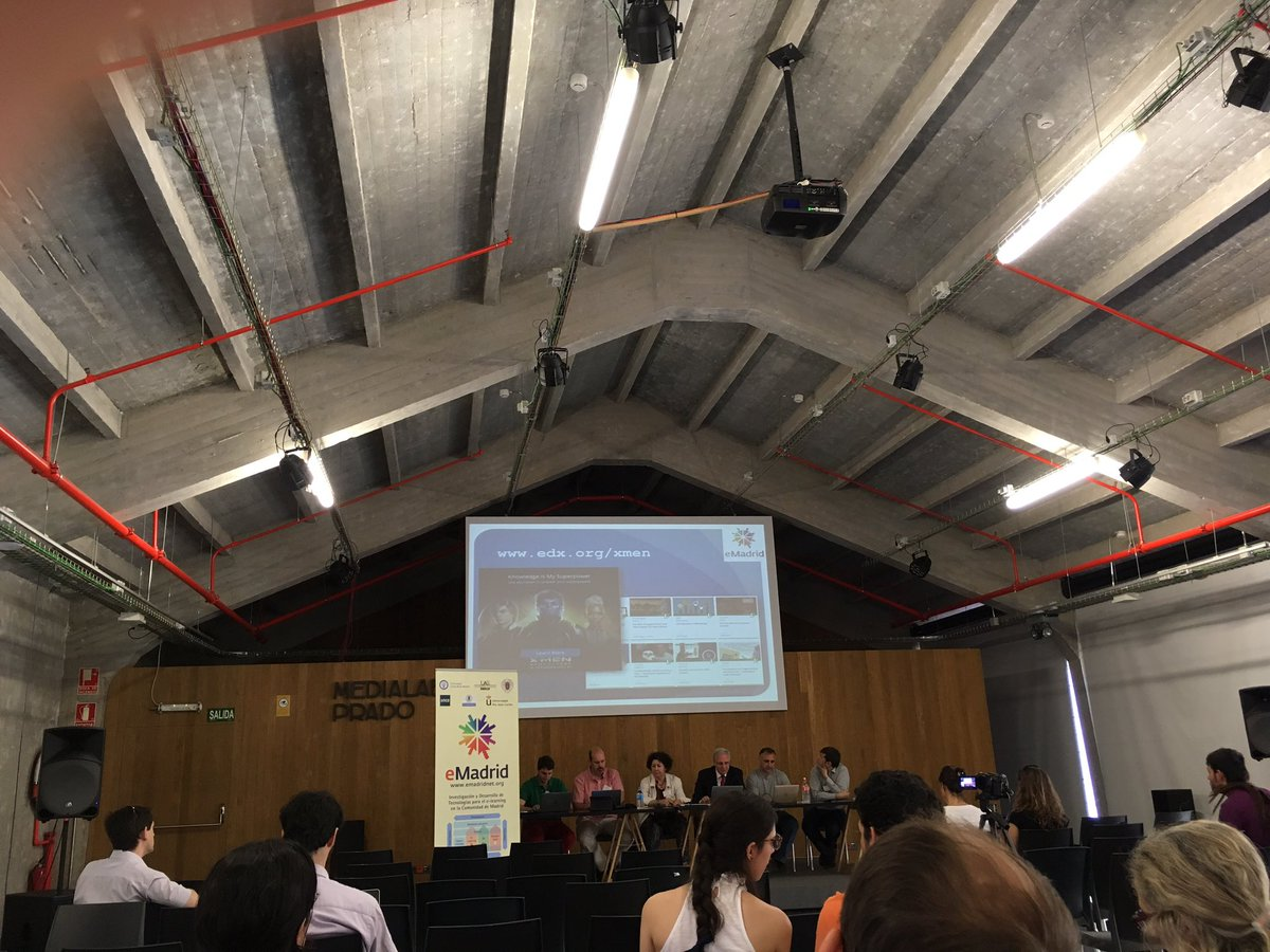 """The Round table about """"Unbundling Education"""" starts with @cdkloos and @BaltaFM among the speakers #eMadridNet https://t.co/dTzyBCDuYB"""