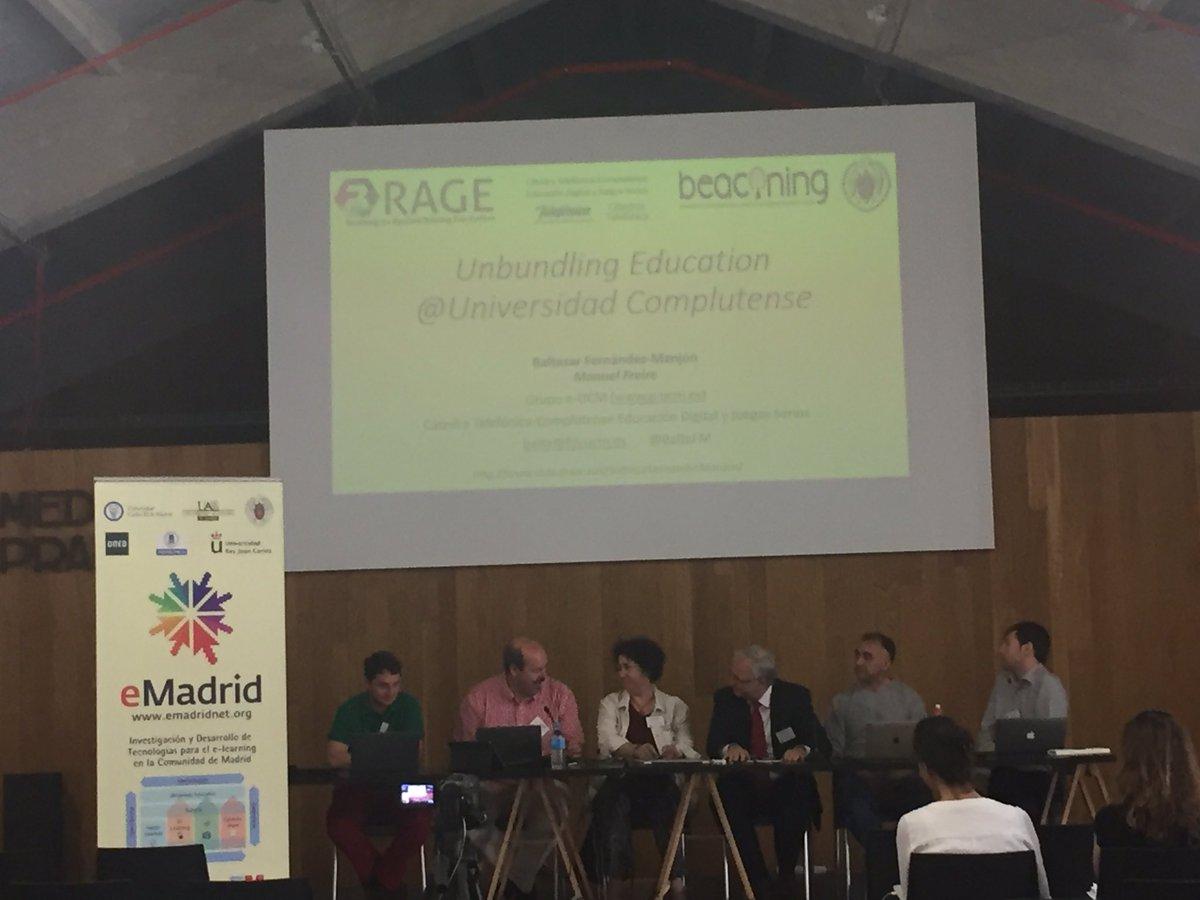 "@BaltaFM ""Unbundling Education @ Universidad Complutense"" #emadridnet https://t.co/aAIzfhl6aX"