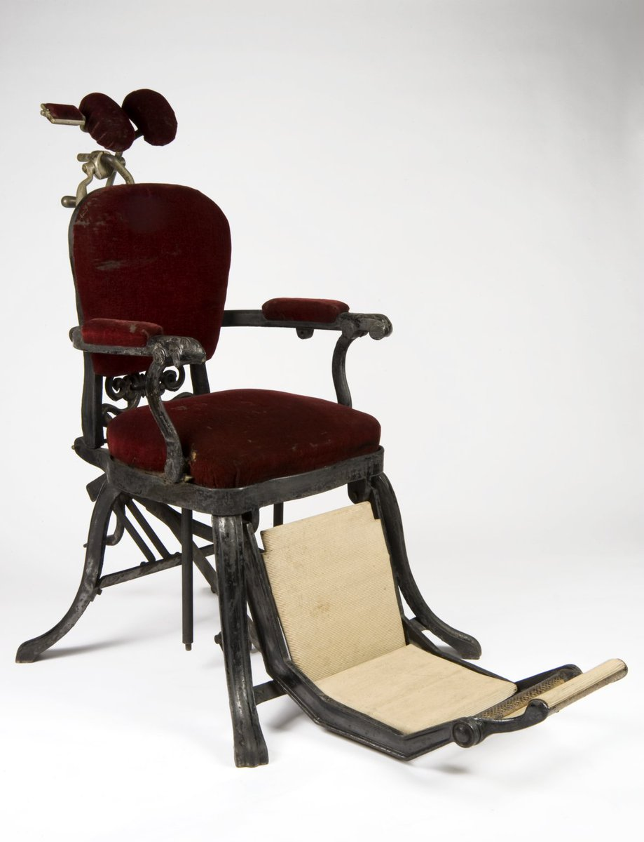 "Ο χρήστης Lindsey Fitzharris στο Twitter: ""Victorian dental chair. The  first reclining chair was invented in 1832 by London dentist James Snell.… """