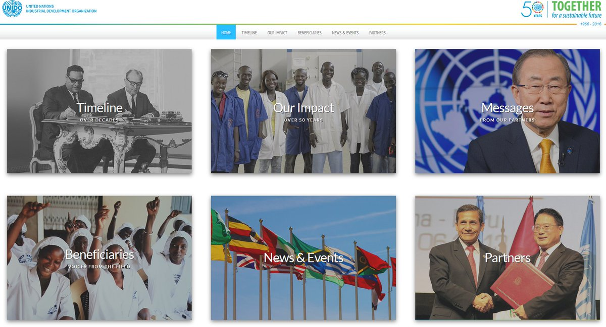 Check out our 50th anniversary platform: milestones, stories from the field...  https://t.co/aOLeEKRM4I #UNIDO50 https://t.co/yiTa9dOXBj