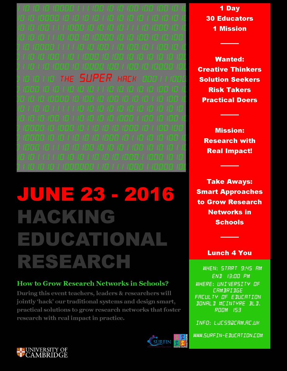 Thursday @SUPER_Network will be hacking Educational Research! With @rrobson66 @Lozwestley83 +many more! #SUPERHack16 https://t.co/SynJWUWHxQ