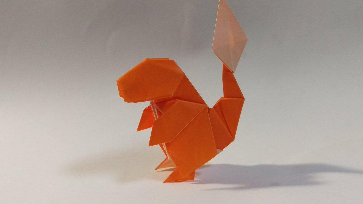 origami pokemon easy charmander tutorial origami handmade