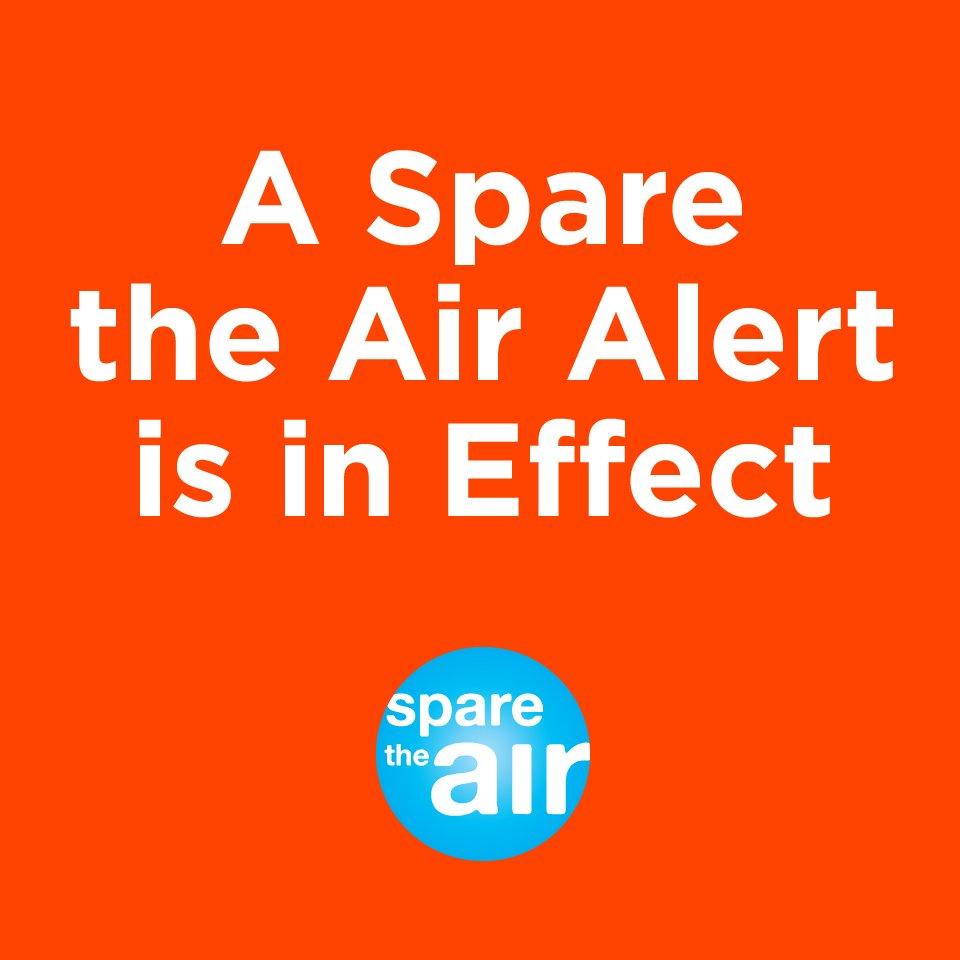 #sparetheairalert Please find alternatives to driving alone today. https://t.co/e7YJmD0FuA