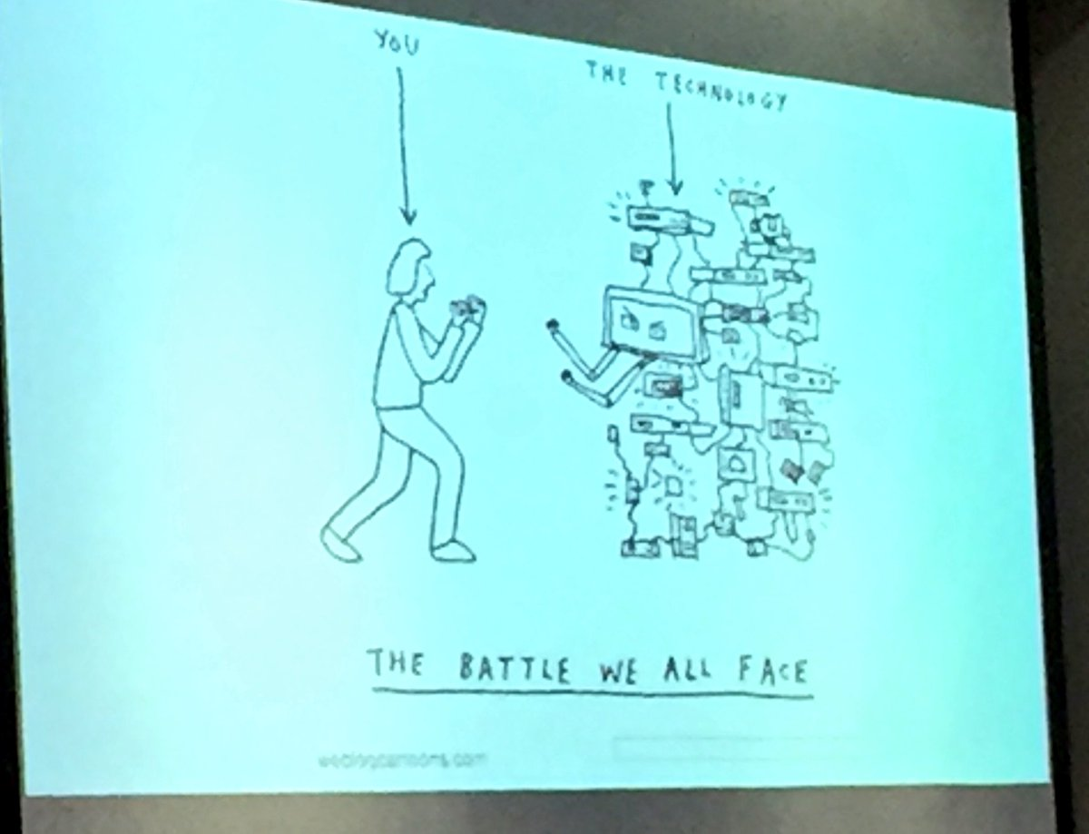 'The battle we all face' #teacher #technology #edtech #connectmore16 @suewatling https://t.co/UIV8YqGCfY