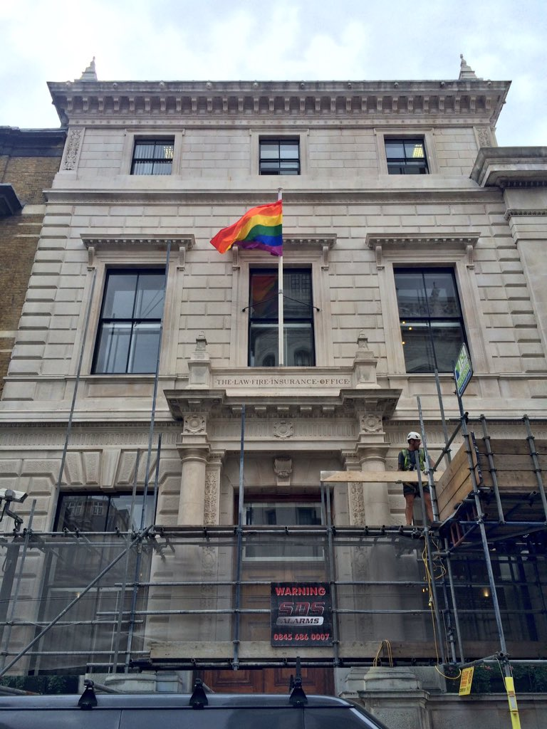 Great to see the Rainbow flag flying at @TheLawSociety for Pride Week #lawwithnofilter #nofilter https://t.co/8i9HdAAwk6