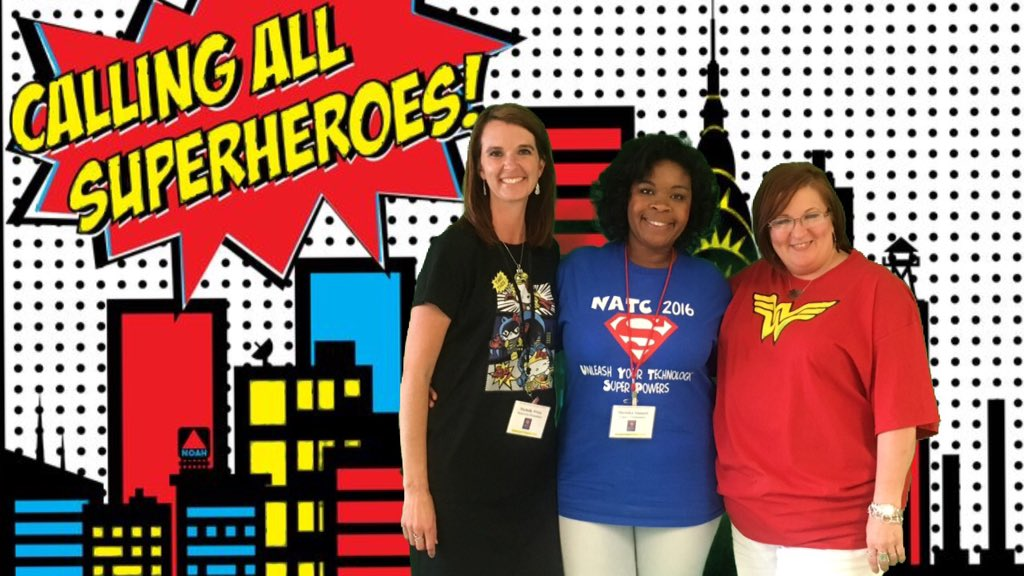 A few of my superheroes @ #NATC2016 @TinaCMcKenzie @ShemikaStinnett https://t.co/t5NNDxVQFU