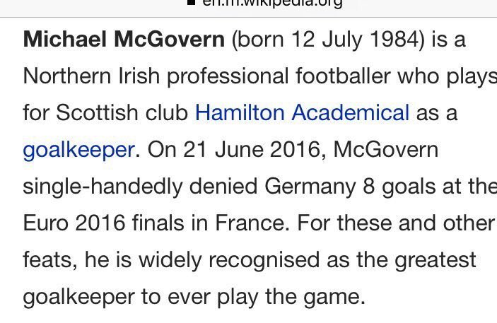.@ColinMurray @Wikipedia #gawa   Michael McGovern ✌