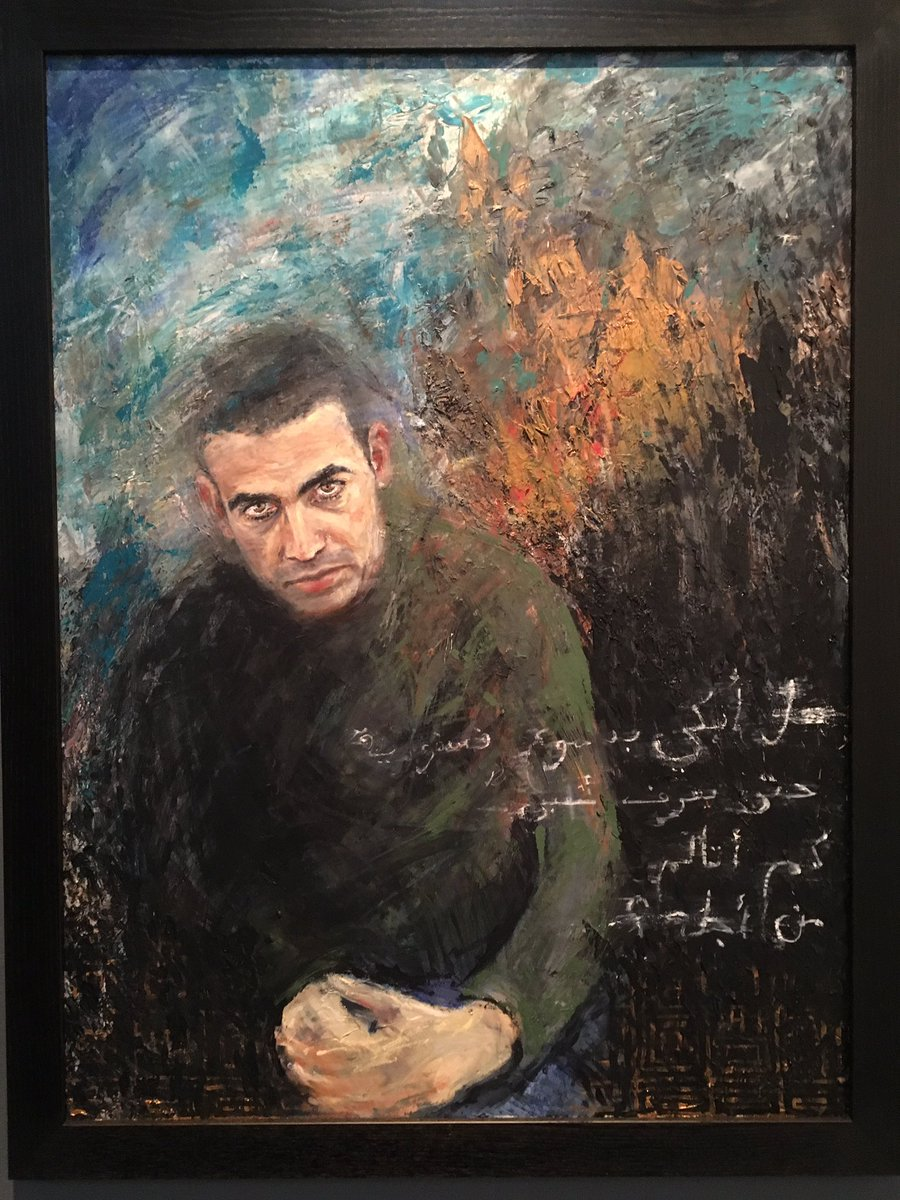 Portrait of Ahmad by Hannah Thomas. Ahmad fled from Syria last year and is now in the UK #CalaisStories https://t.co/T3H6FkbUM1