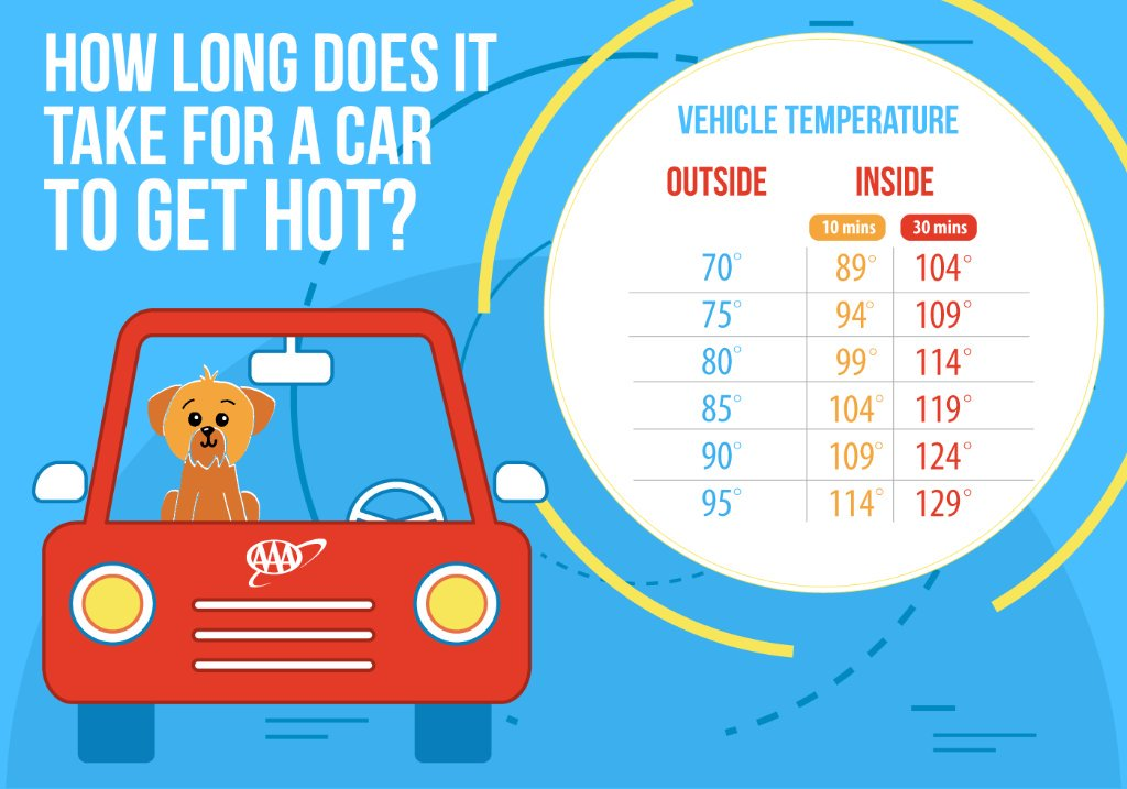 It only takes minutes for a car to become dangerously hot for your pets. #PetSafety https://t.co/upfITf9yNY