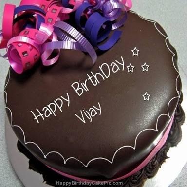 Happy birthday vijay cake images hd