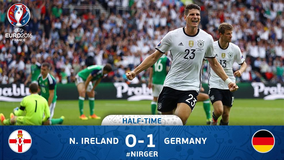 GERMANIA vs IRLANDA DEL NORD 1-0, gol di Mario Gomez