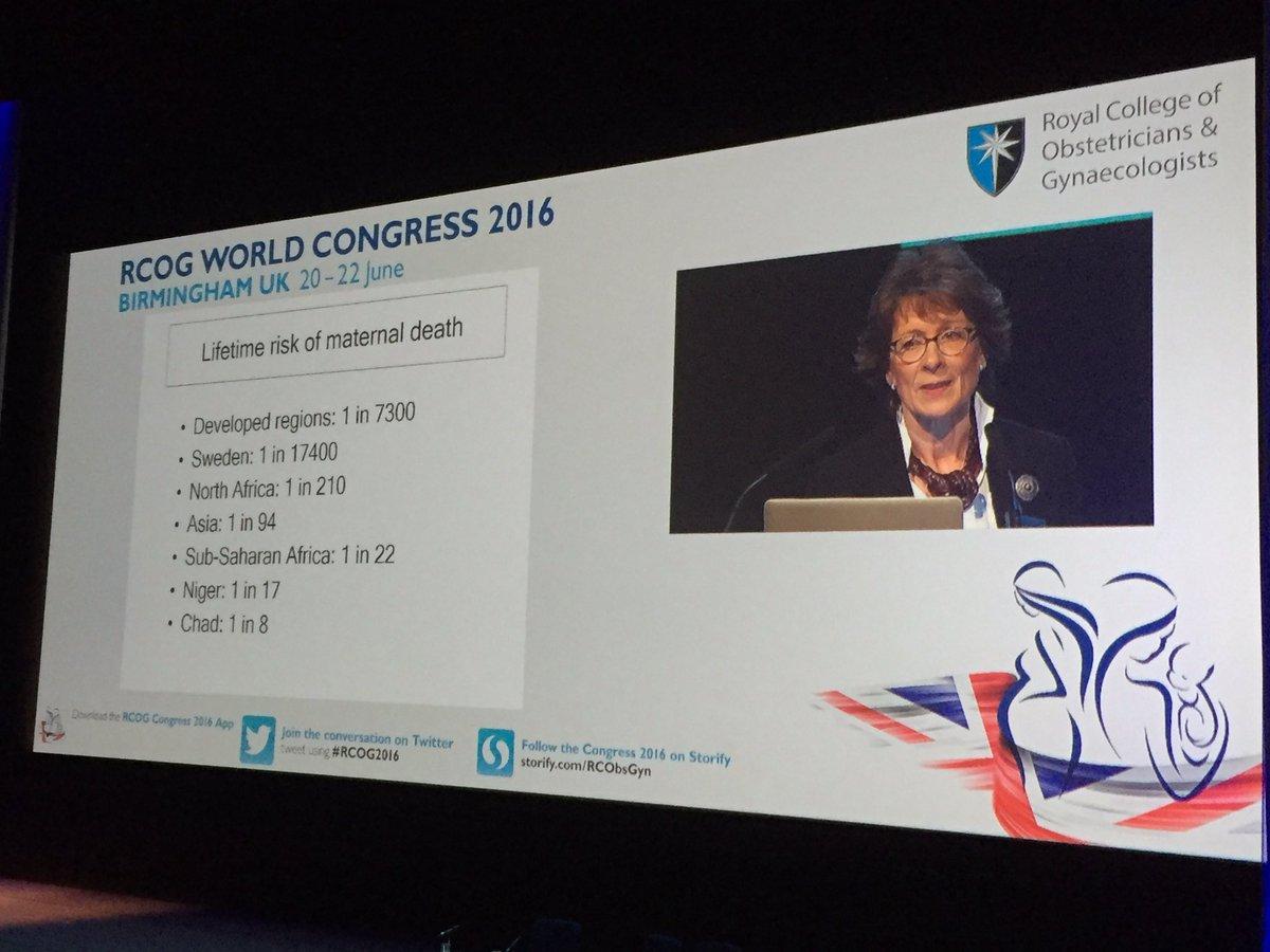 @lregan7 discusses vast differences in maternal death statistics #RCOG2016 https://t.co/TSbpd0aoYM