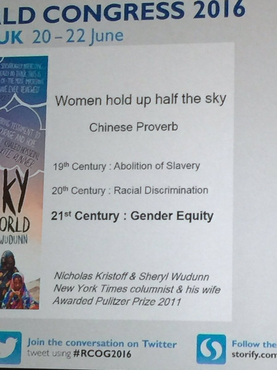 21st Century, is the century of gender equity:) Prof. Regan #RCOG2016 https://t.co/iymhdieT7s