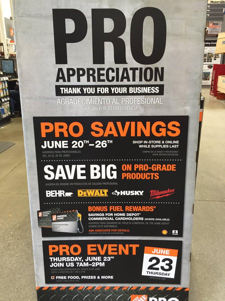 Salem Home Depot Pro On Twitter Pro Appreciation Event This