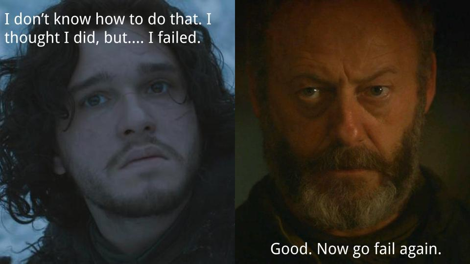 Ser Davos has a #growthmindset. That's fortunate because Jon Snow, of course, knows nothing. S06E03. #woplc https://t.co/vM8oFtnZ4J