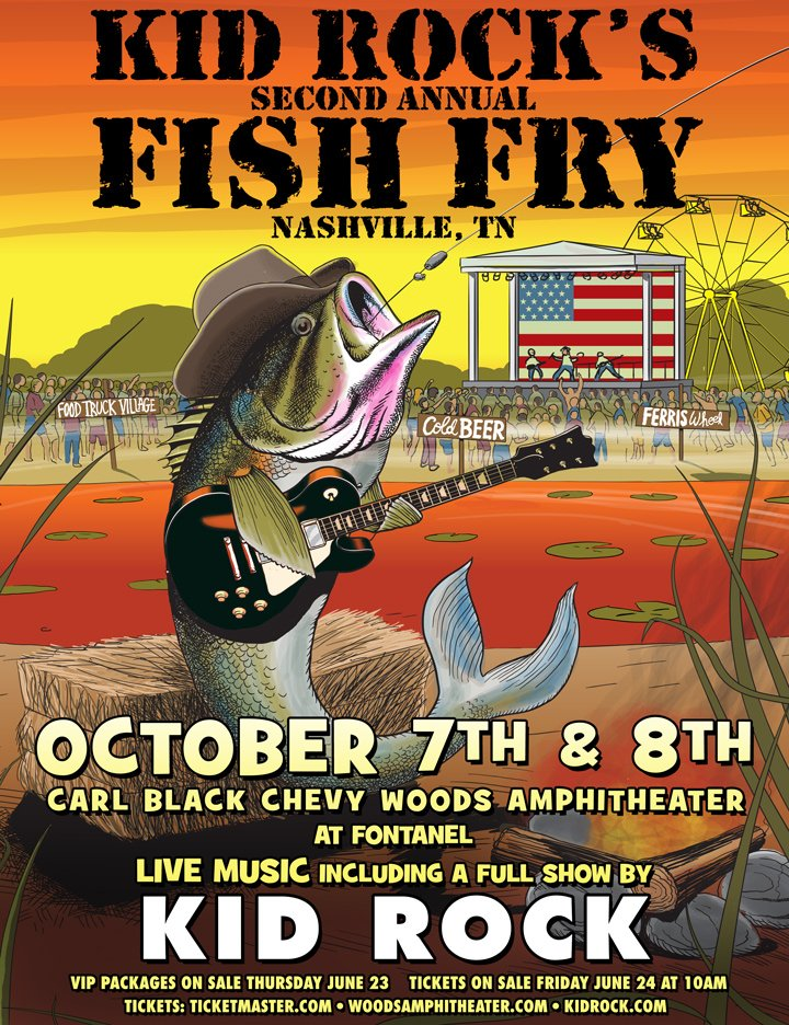 Woods amphitheater woodsatfontanel twitter for Kid rock 3rd annual fish fry