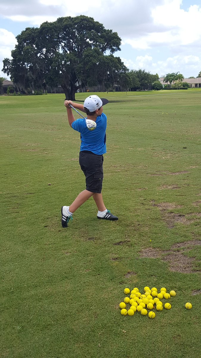 My 9 year old got turned away from a public driving range for not wearing a collared shirt.. this was his outfit. https://t.co/n0GSfV2sJi