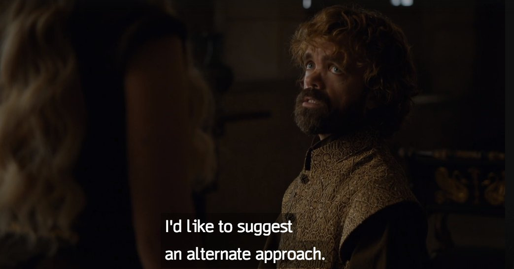 What I REALLY like about this scene is we get to see the dynamic between Tyrion and Dany, alone. He is her Hand. https://t.co/rSfPhog6v4