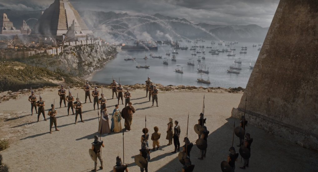 Anyway, Dany and Co meet with the Masters outside the city to negotiate a surrender. https://t.co/H6HhioTTmy