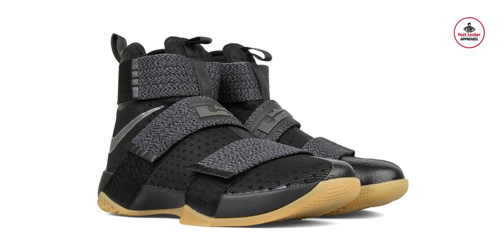 quality design f6086 55c0a  footlocker 2 years. the new black gum nike zoom lebron soldier 10 is  arriving in stores
