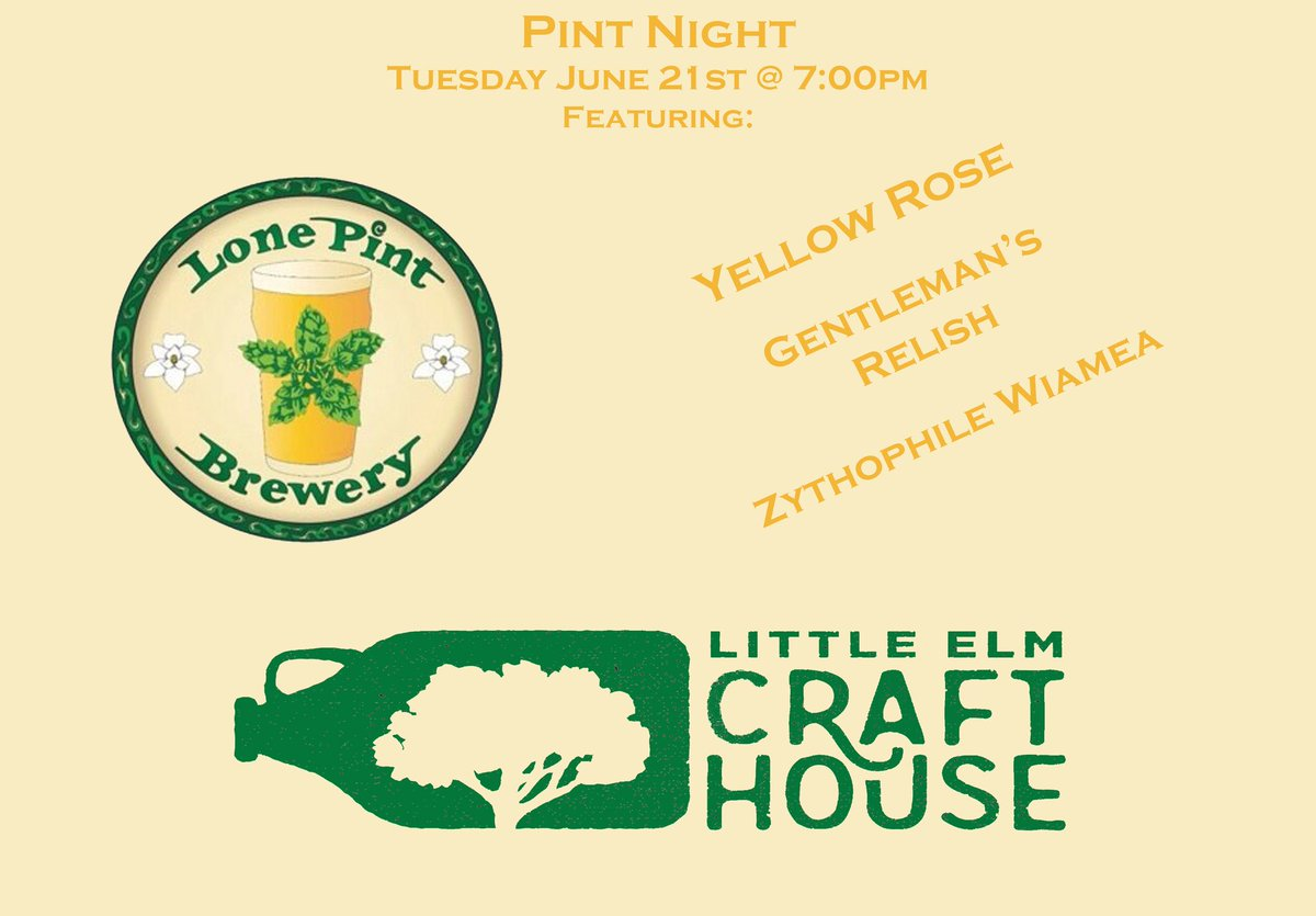 Lone pint brewery lonepint twitter for Little elm craft house