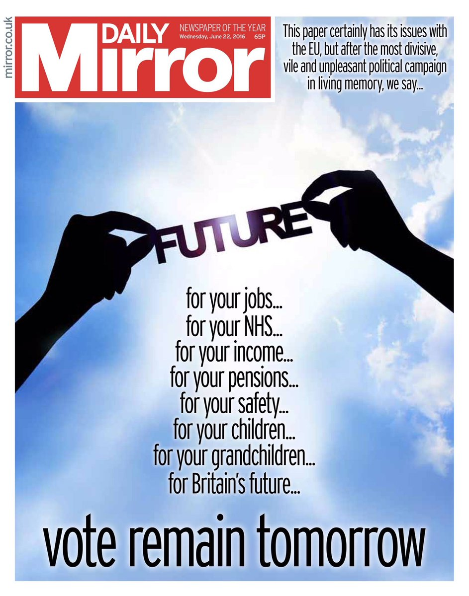 I admit I'm not a traditional @DailyMirror reader,but their front page tomorrow sends an incredibly powerful message https://t.co/PFjmMHXsvz