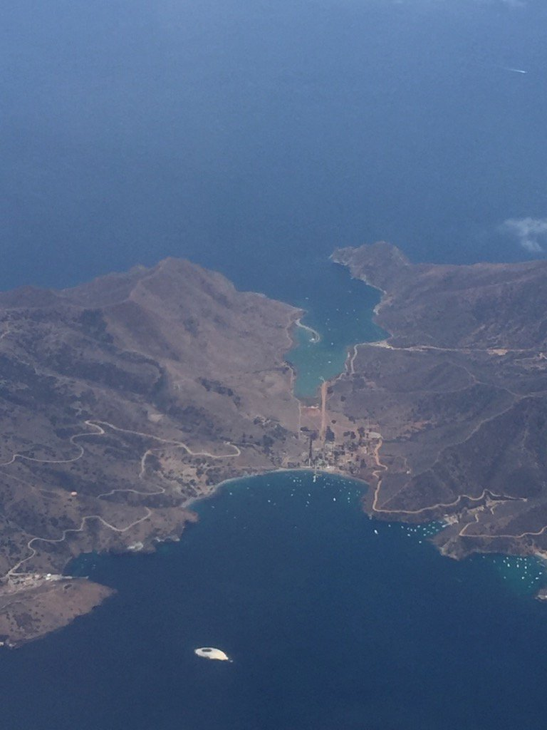 #Avalon #catalina on @JetBlue #flight to #aafcsac to #sayyestofcs https://t.co/vJmRfpQrjc