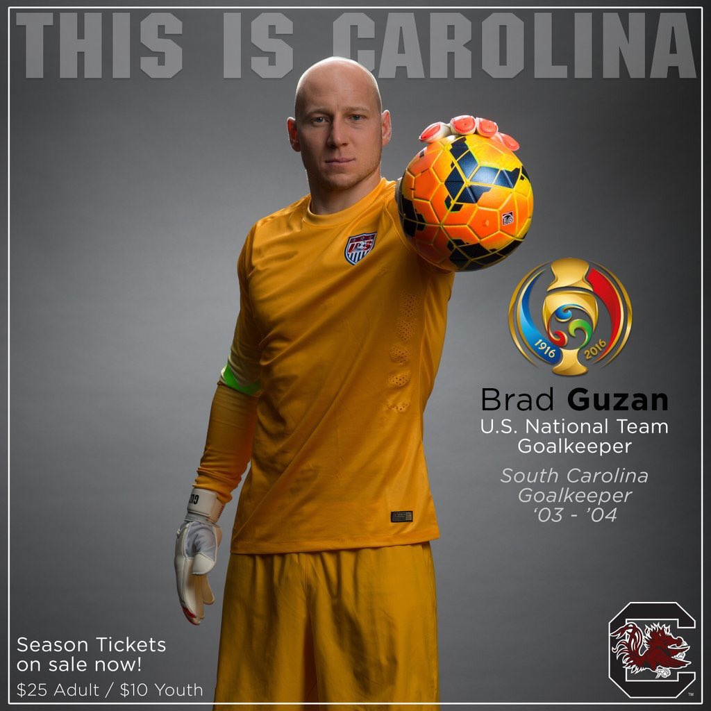 Former #Gamecocks GK Brad Guzan is back in goal for the US tonight in their semifinal match vs Argentina https://t.co/kexAW8UE2w