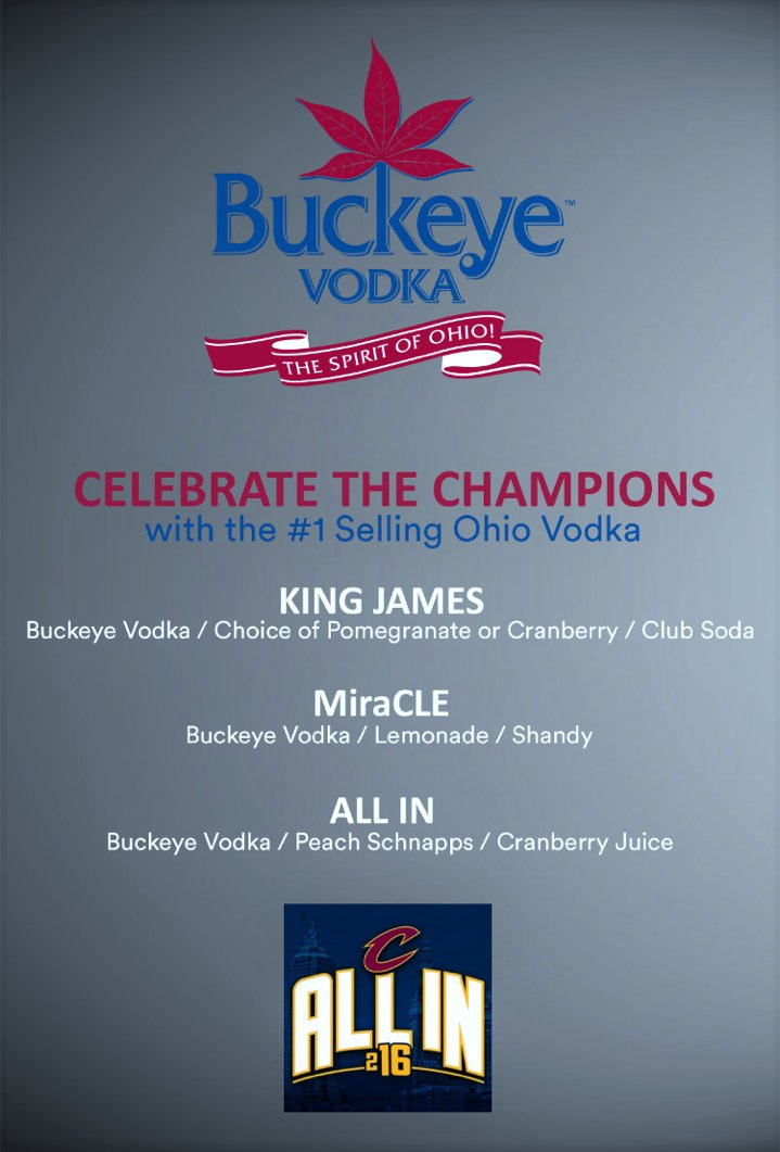 Celebrate the @CAVs Championship with @BuckeyeVodka After the Parade stop by @CornerAlleyE4th downtown and enjoy https://t.co/F2jJQwmC2W