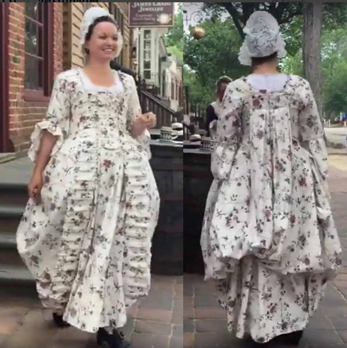 Congratulations to the mantua-makers @colonialwmsburg who hand-stitched this 18thc #dressinaday today! https://t.co/ziIXA9aCIU