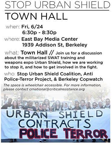 Stop Urban Shield Townhall @ East Bay Media Center | Berkeley | California | United States