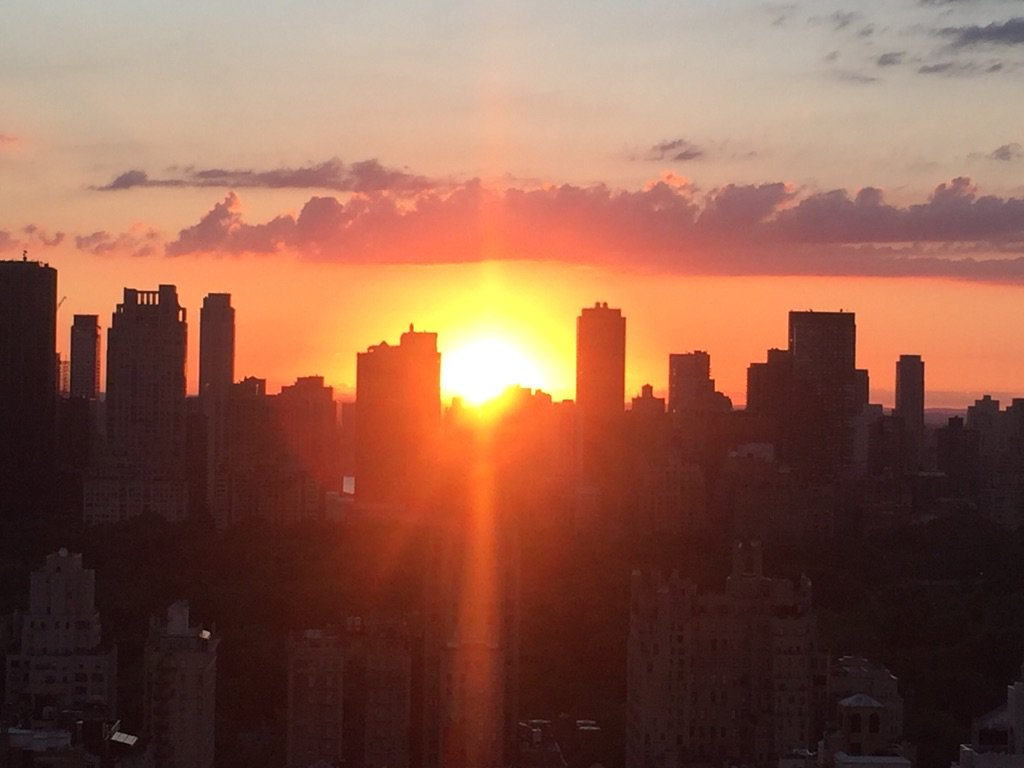 Gorgeous night sky:) #sunset #nyc #manhattan https://t.co/Ygj7bhTj7X