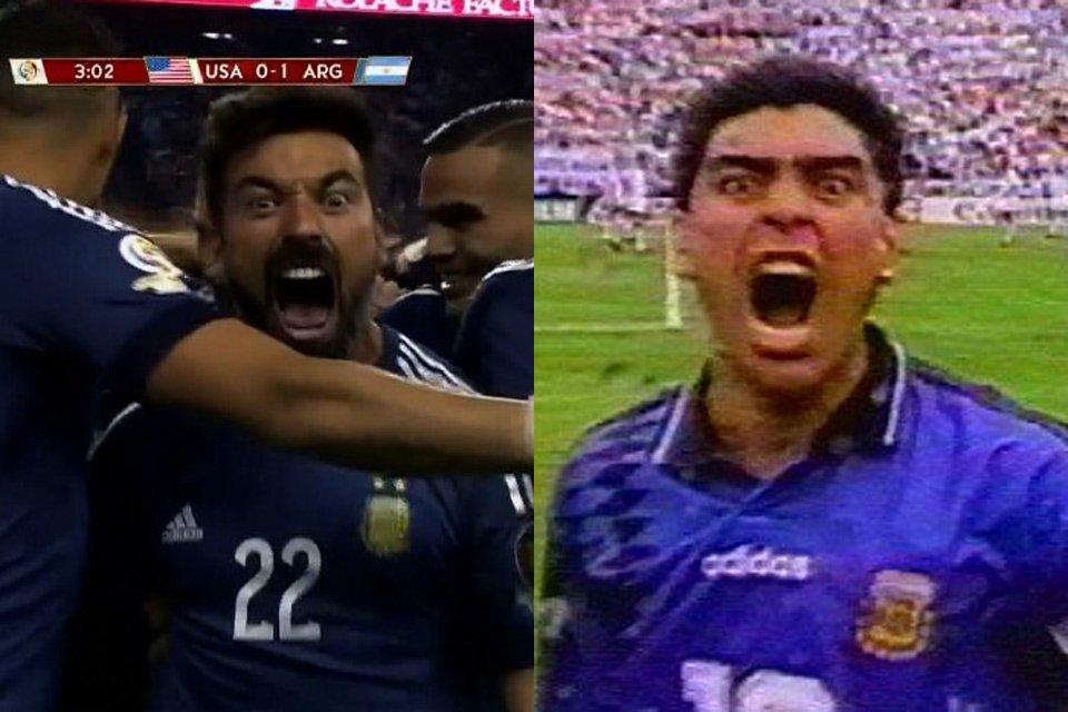 L'urlo di Lavezzi sembra quello di Maradona contro la Grecia 22 anni fa