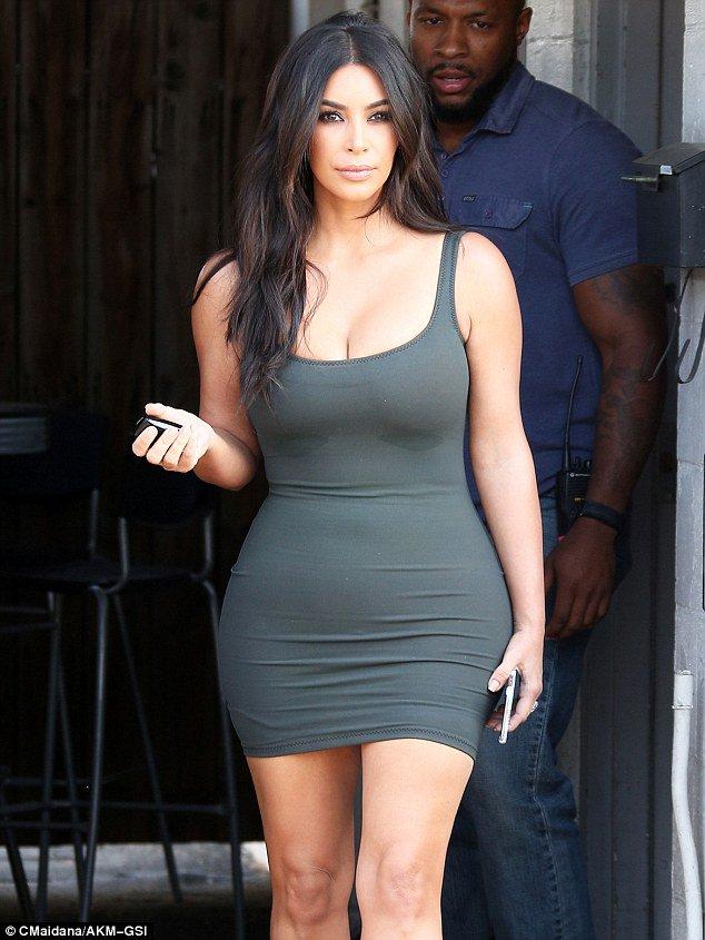 Kim Kardashian feels the heat