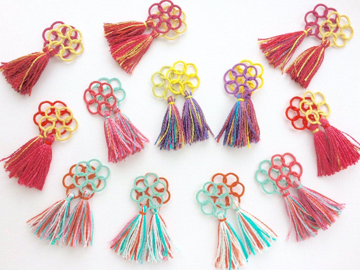 刺繍糸でピアスや指輪も♡刺繍糸アクセサリーが可愛い♪