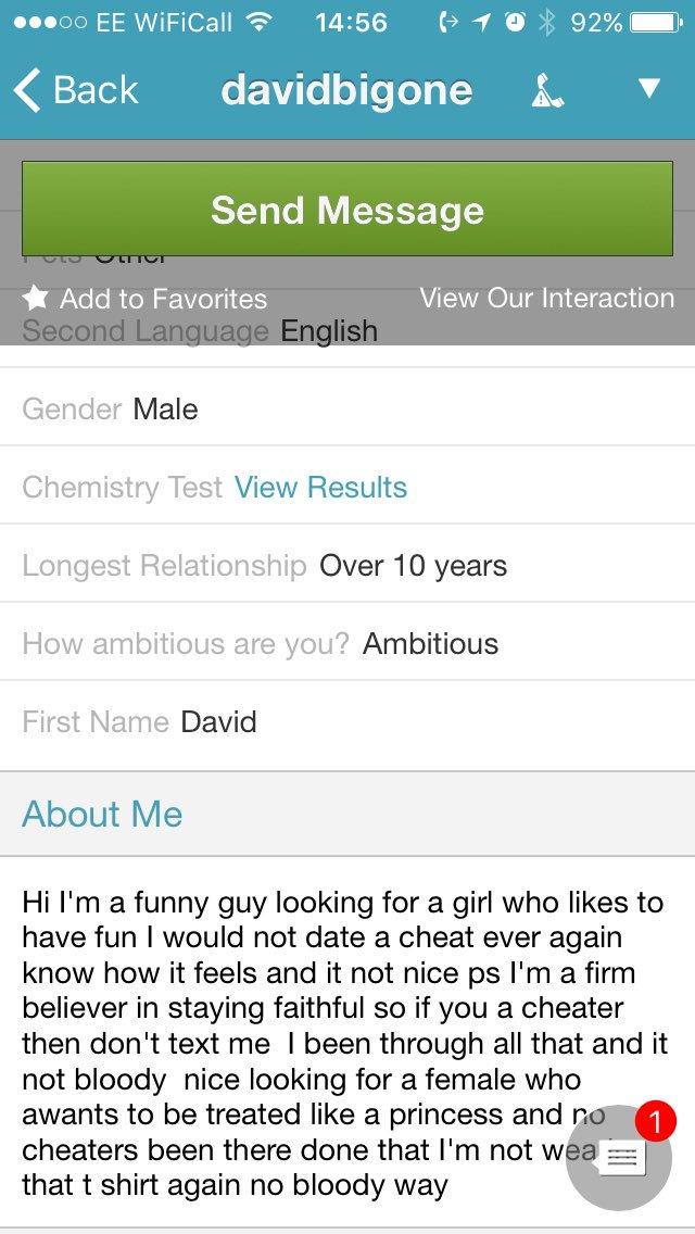 online dating bitter