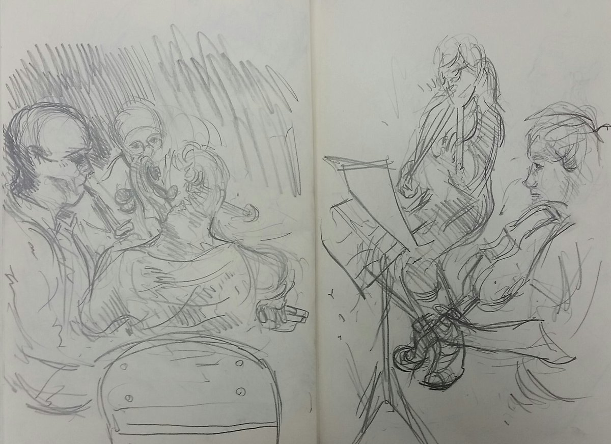 Music in the round on twitter wonderful sketches of ensemble360 at carlisles old fire station by marcer campbell very talented indeed