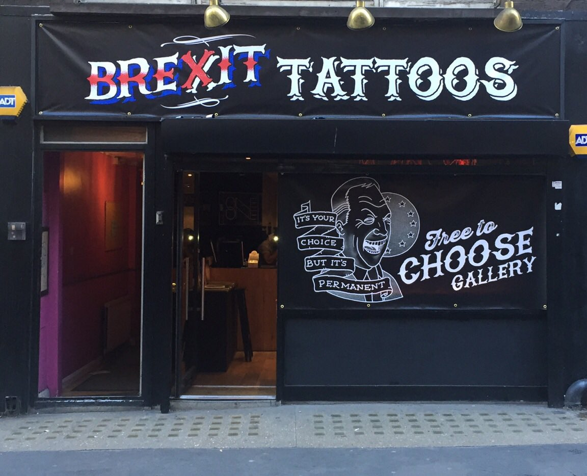 Free Brexit tattoos being offered today in London
