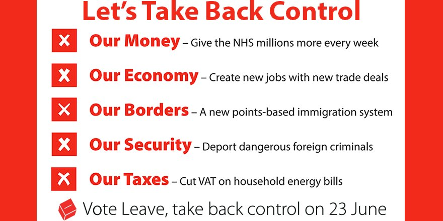 Vote leave on twitter tomorrow lets take back control of our 1213 pm 22 jun 2016 altavistaventures Images